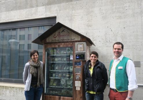 «Alpomat» – le plus petit magasin à la ferme en ville a bien débuté